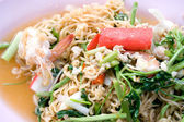 Native Thai style of Noodle mix salad — Stock Photo