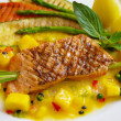 Grilled Salmon steak — Stock Photo #7920889