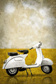 White retro vespa — Stock Photo