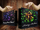 Shopping bag for holiday event — 图库照片
