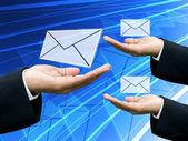 Businessman share the news together — Stok fotoğraf