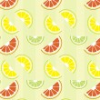 Citrus  pattern - Stockvektor