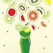 Royalty-Free Stock Vector Image: Fruits background