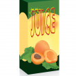 Stock Vector: Pack for juice