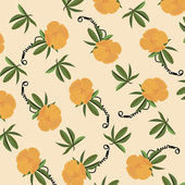 Vector Retro Floral Pattern — Stock Vector