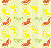 Citrus pattern — Stock Vector