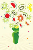 Fruits background — Vector de stock