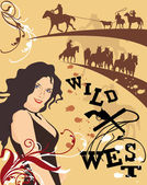 Western Poster — Stock Vector