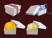 Box s vánoční dekorace — Stock vektor
