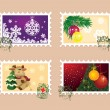 Christmas and New Year Stamps — Stock Vector #7422139