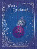Vintage Christmas greeting card — Stock Vector