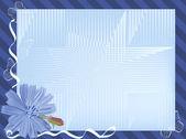 Modrý květ — Stock vektor