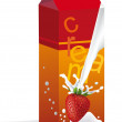 Vector de stock : Bag of yogurt