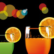 Orange drink — Stock Vector