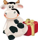 Capodanno mucca — Vettoriale Stock