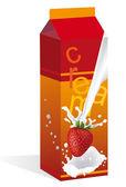 O saco de iogurte — Vetorial Stock