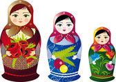 Russian Doll — Stock Vector