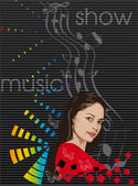 Feel the music — Stock Vector