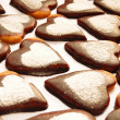 Cookie in the shape of a heart — Foto de stock #7465724