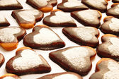 Cookie in the shape of a heart — Стоковое фото