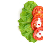 Salad & tomato — Stock Photo