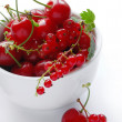 Cherries and red currants — Stock Photo