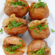 Stock Photo: Potatoes with bacon