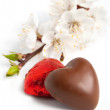 Chocolate in heart shape — Stock Photo