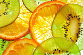 Orange et kiwis — Photo
