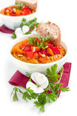 Soup of pumpkin and other vegetables — Stock Photo