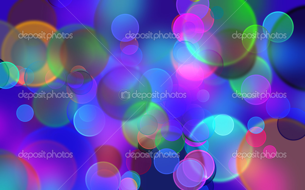 Background with the effect of boke the coloured balls — Stok fotoğraf #7620975