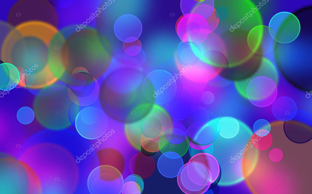 Background with the effect of boke the coloured balls  Stock Photo #7620975