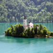 Church of Bled on an island - Stock Photo