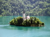 Church of Bled on an island — Stock Photo