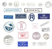Vintage airmail stamps — Stock Photo