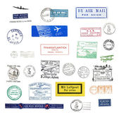 Vintage postmarks — Stock Photo