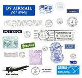 Vintage postzegels — Stockfoto