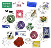 Postage stamps and labels from Ireland — Stock Photo