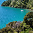 Stock Photo: Sailboat in Marlborough Sounds
