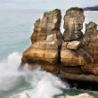 Pancake Rocks near Punakaiki - Stock Photo