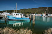 Harbor of Havelock in the Marlborough Sounds — Stockfoto