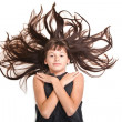Young teenager with beautiful long hair — Stock Photo #7414326