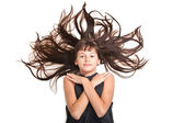 Young teenager with beautiful long hair — Stock Photo