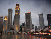 Singapore At Dusk — Stock Photo