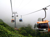 Cable Cars In The Mist — Stock Photo