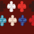 Wektor stockowy : Set varicoloured cross