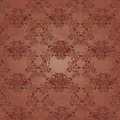 Pattern on brown background — Vector de stock