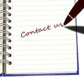 Pen writing Contact Us — 图库照片