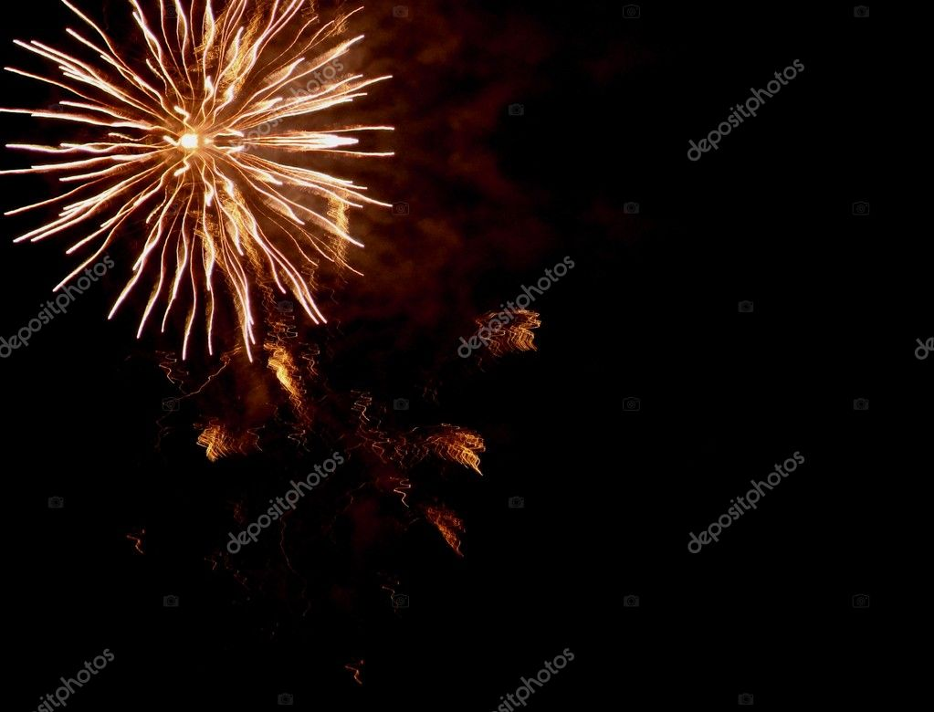 Fireworks on the black sky — Stock Photo #7254021