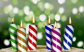 Lume di candela di compleanno — Foto Stock